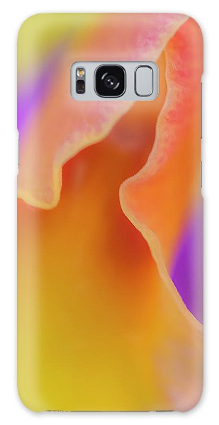 Orange Orchid Galaxy Case
