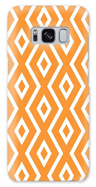 Galaxy Case - Orange Pattern by Christina Rollo