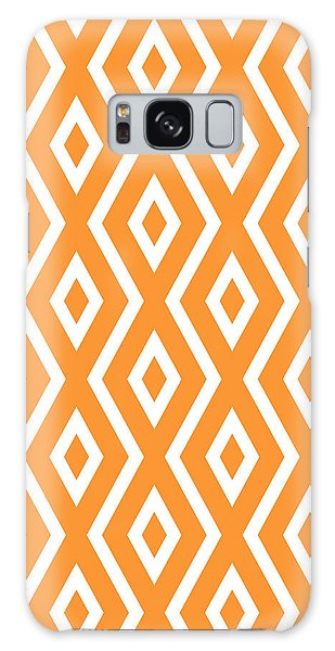Orange Pattern Galaxy Case by Christina Rollo