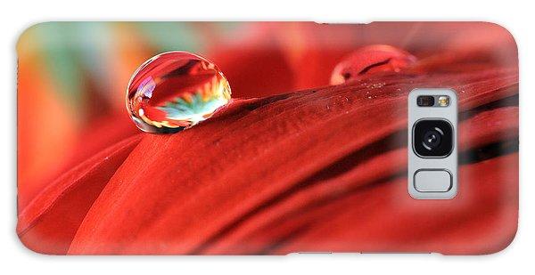 Orange Petals And Water Drops Galaxy Case