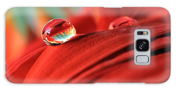 Orange Petals And Water Drops Galaxy Case