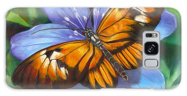Orange Piano Key Butterfly Galaxy Case by Nancy Tilles