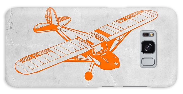 Airplane Galaxy Case - Orange Plane 2 by Naxart Studio