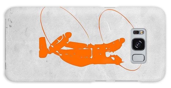 Airplane Galaxy S8 Case - Orange Plane by Naxart Studio