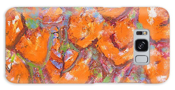 Orange Poppies Galaxy Case