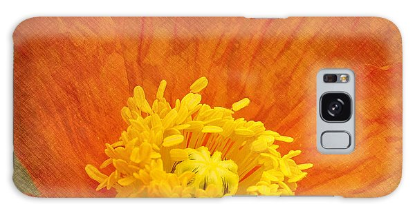 Orange Poppy Galaxy Case by Carrie Cranwill