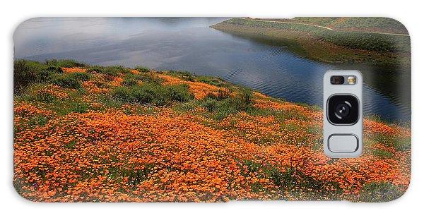 Orange Poppy Fields At Diamond Lake In California Galaxy Case by Jetson Nguyen