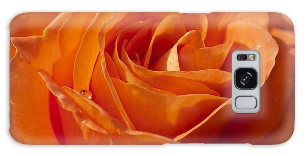Orange Rose 2 Galaxy Case by Steve Purnell