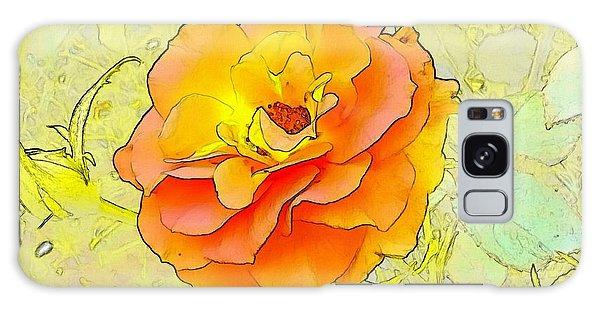 Galaxy Case - Orange Rose by Kumiko Izumi