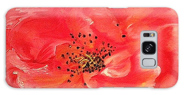 Orange Rose Galaxy Case by Sheron Petrie