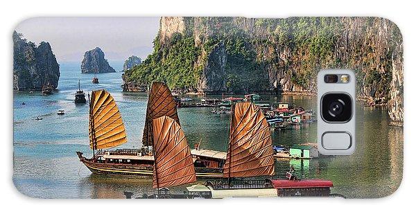 Orange Sails Asian Cruise Vietnam  Galaxy Case