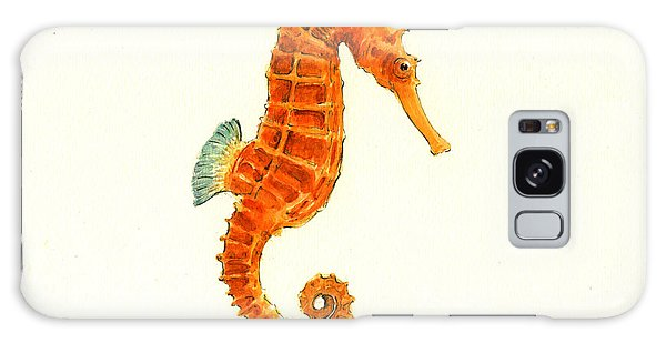 Orange Seahorse Galaxy Case by Juan Bosco