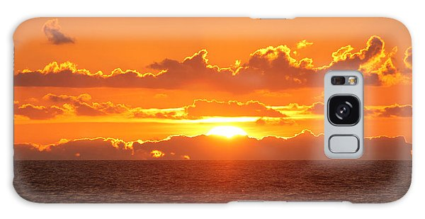 Orange Skies At Dawn Galaxy Case