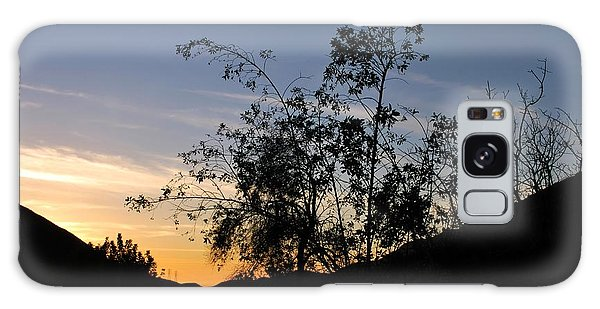 Galaxy Case featuring the photograph Orange Sky Nature Silhouette by Matt Harang