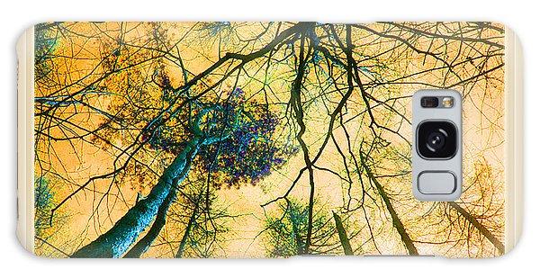 Orange Sky Tree Tops Galaxy Case by Felipe Adan Lerma