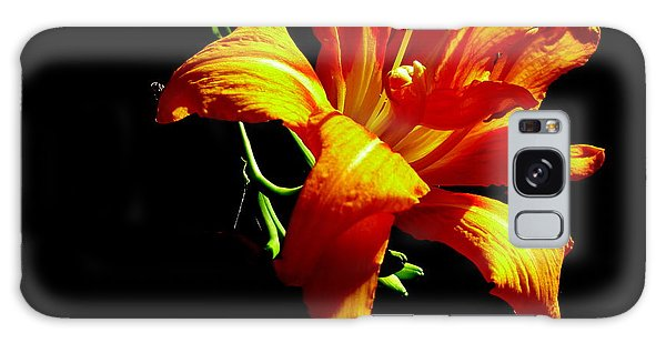 Orange Splendor Galaxy Case