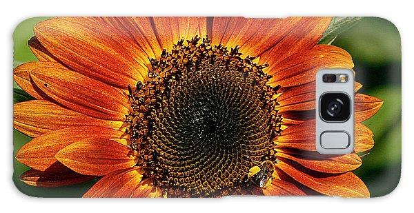 Orange Sunflower Galaxy Case