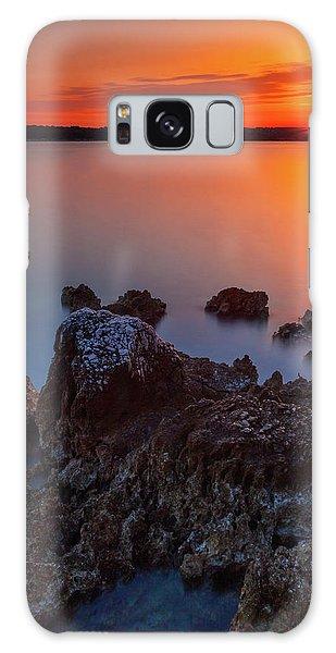 Orange Sunrise Galaxy Case