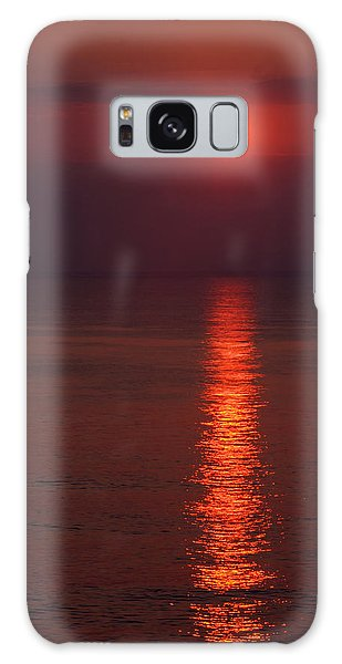 Orange Sunrise Galaxy Case