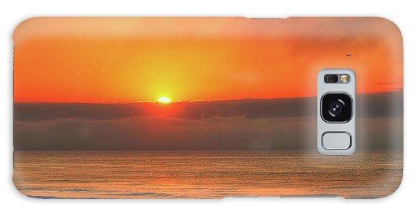 Orange Sunrise On Long Beach Island Galaxy Case