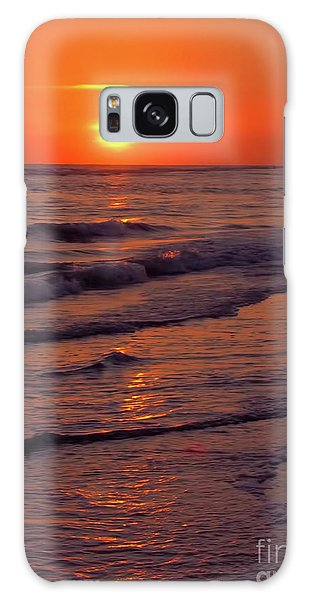 Orange Sunset Galaxy Case