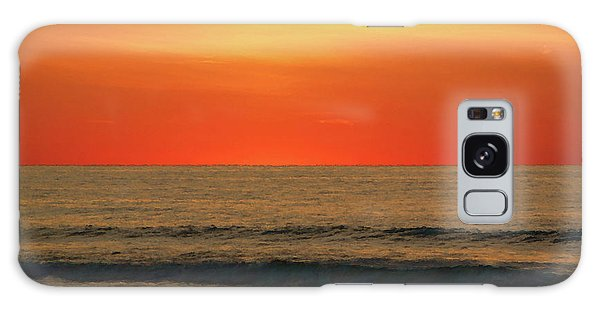 Orange Sunset On The Jersey Shore Galaxy Case