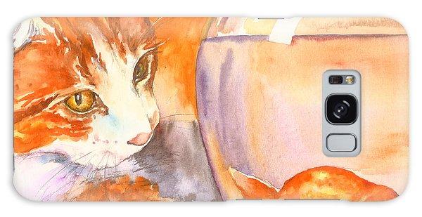 Orange Tabby With Goldfish Galaxy Case