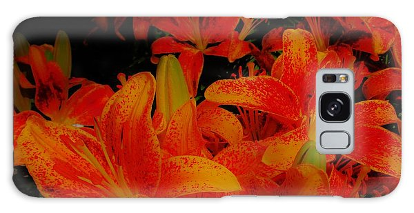 Spicey Tiger Lilies Galaxy Case