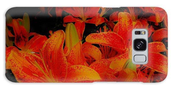 Spicey Tiger Lilies Galaxy Case
