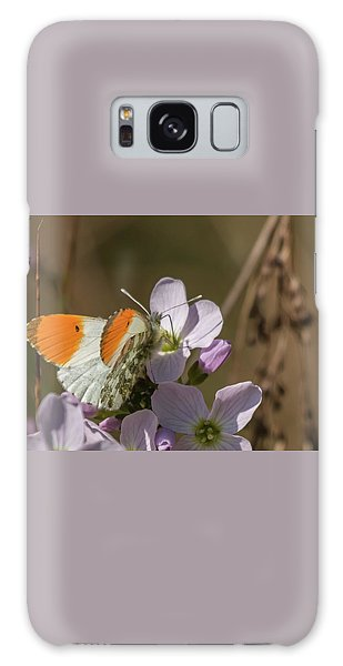 Orange Tip On Lady's Mantle Galaxy Case