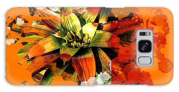 Orange Tropic Galaxy Case by Deborah Nakano