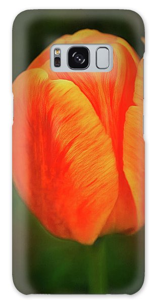 Galaxy Case featuring the photograph Orange Tulip Painting Neo Rembrandt Style by Matthias Hauser