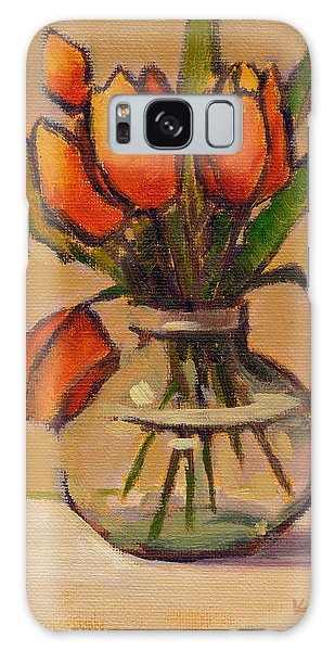 Orange Tulips Galaxy Case