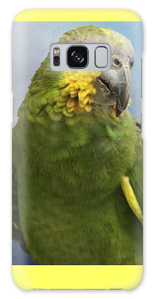 Orange Wing Amazon Parrot Galaxy Case by Victoria Harrington