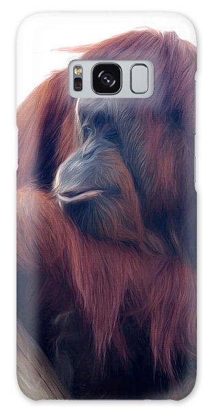 Orangutan - Color Version Galaxy Case by Lana Trussell