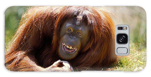 Orangutan In The Grass Galaxy Case