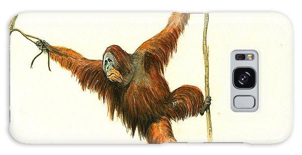 Orangutan Galaxy Case by Juan Bosco