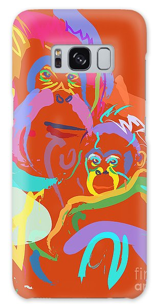 Orangutan Mom And Baby Galaxy Case