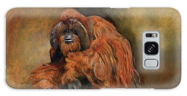 Orangutan Galaxy Case - Orangutan Monkey by Juan Bosco