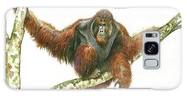 Orangutang Galaxy Case by Juan Bosco