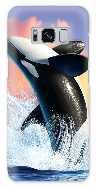 Splash Galaxy Case - Orca 1 by Jerry LoFaro