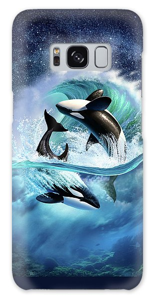 Dolphin Galaxy Case - Orca Wave by Jerry LoFaro