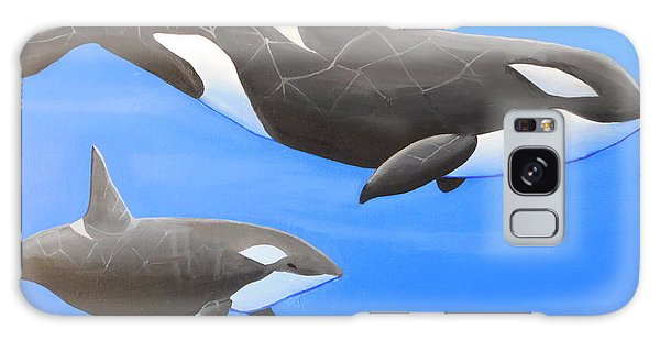 Orca With Baby Galaxy Case