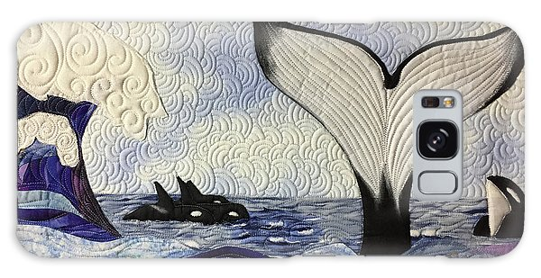 Orcas At Play Galaxy Case