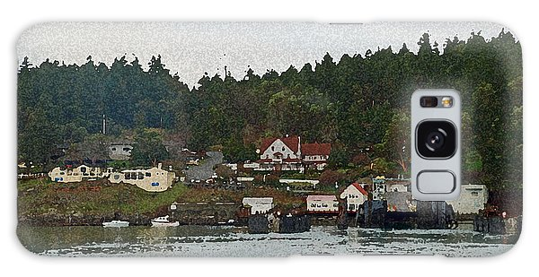 Orcas Island Dock Digital Galaxy Case