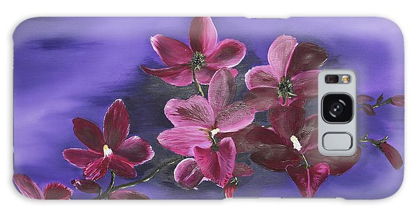 Orchid Blossoms On A Stem Galaxy Case