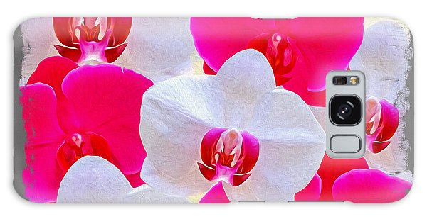 Orchidaceae Galaxy Case - Orchid Canvas by Laura D Young