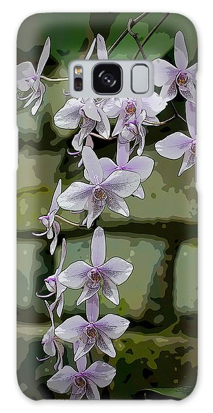 Orchid Waterfall Galaxy Case