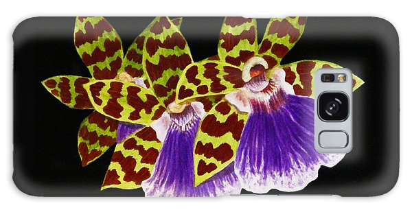 Orchids - Jumping Jacks With Black Background Galaxy Case by Kerri Ligatich