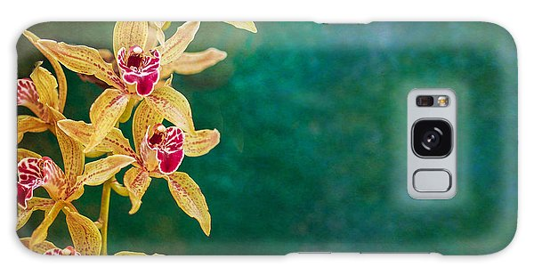 Orchids Galaxy Case by Elena E Giorgi